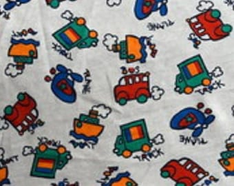 Boats, Trucks, Planes & Buses - Cotton Knit Fabric