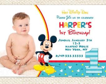 Mickey mouse 1st birthday invitation etsy mickey mouse 1st birthday invitations mickey invitations mickey mouse first birthday invitations baby mickey mouse invitations filmwisefo