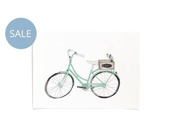 ON SALE! Vintage Bicycle Illustrated Print A3