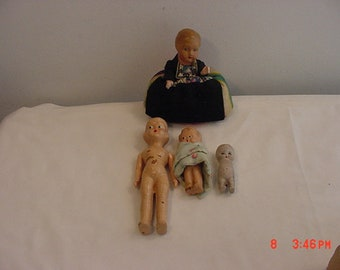 4 Vintage Baby Dolls - One Missing Arms  18 - 849