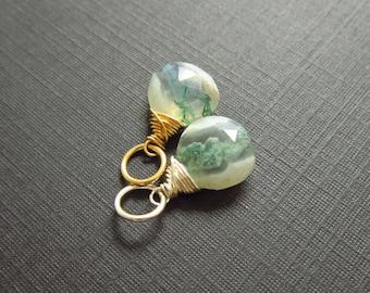 Solar Quartz Pendant - Quartz Stalactite Pendant - Natural Stone Jewelry - 14k Gold Charms - Healing Crystals and Stones
