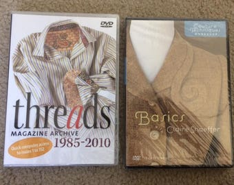 Threads Magazine Archive & Basics Couture Techniques  w/Claire Shaeffer DVD Lot