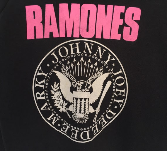 Jumper Vintage In Ho Usa Pullover Rare Made Let's 90s Hey Spellout 50 Go 50 Ramones Sweatshirt q7na87F