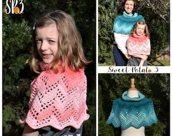 Herringbone Chevron Poncho - Crochet Pattern