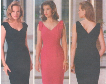 1990 - Butterick 5053 Vintage Sewing Pattern Sizes 8/10/12 Nicole Miller Easy Semi Fitted Straight Lined Bows