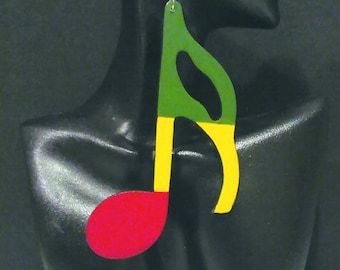 Reggae Music Notes/I Love Reggae Music Earrings MADE TO ORDER