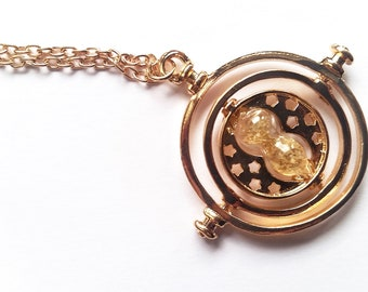 Time hour glass necklace Bookish Acessories Bookish Jewelry Necklace Bokworm