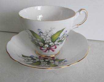 Lilly of the Valley Bone China Tea Cups Regency English Fine Bone China Tea Cup Tea Cup Saucer Set Lilly of the Valley Tea Cups England