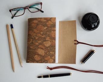 Cork Journal, Vegan Leather, Vegan Journal, Cork Leather, Faux Leather, Vegan Notebook, Faux Leather Journal, Vegan Gift, Eco-Friendly gift