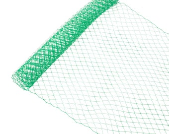 "1 Yard x 10"" Green Russian Millinery Birdcage Veil Netting - Available in 19 Colors"