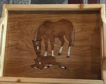 Horse with New Colt - Serving Tray