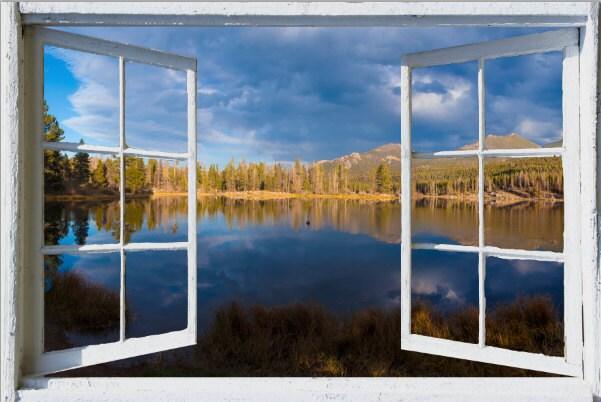 Wall mural window self adhesive-Colorado open window view-3