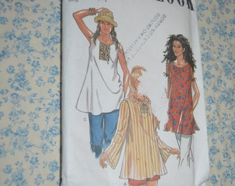New Look 6245 Misses Tops Sewing Pattern - UNCUT - Size 8 - 18