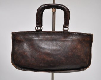 vintage coach leather satchel bag handbag purse tote bonnie cashin  briefcase