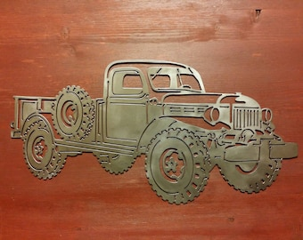Old Style Pick-Up Truck Metal Art