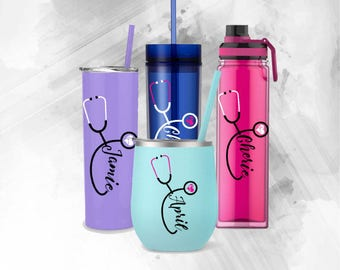 RN Tumbler Decal - Registered Nurse Decal - Doctor Decal - Personalized Nurse Decal - Nurse Decal - Stethoscope Decal - Yeti Decal