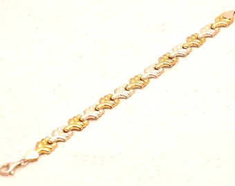 Women Bracelet Mix 9K Gold & Sterling Silver 925 .