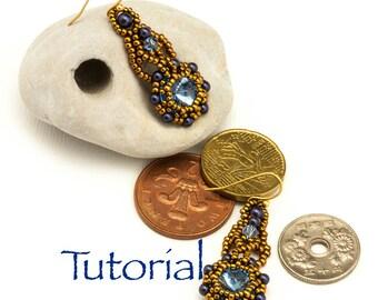 Bead Weaving Tutorial Zosia Rivoli Earrings Digital Download