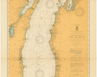 Lake Michigan Map 1915