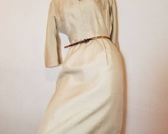 FREE  SHIPPING  1950  Silk Seath Dress