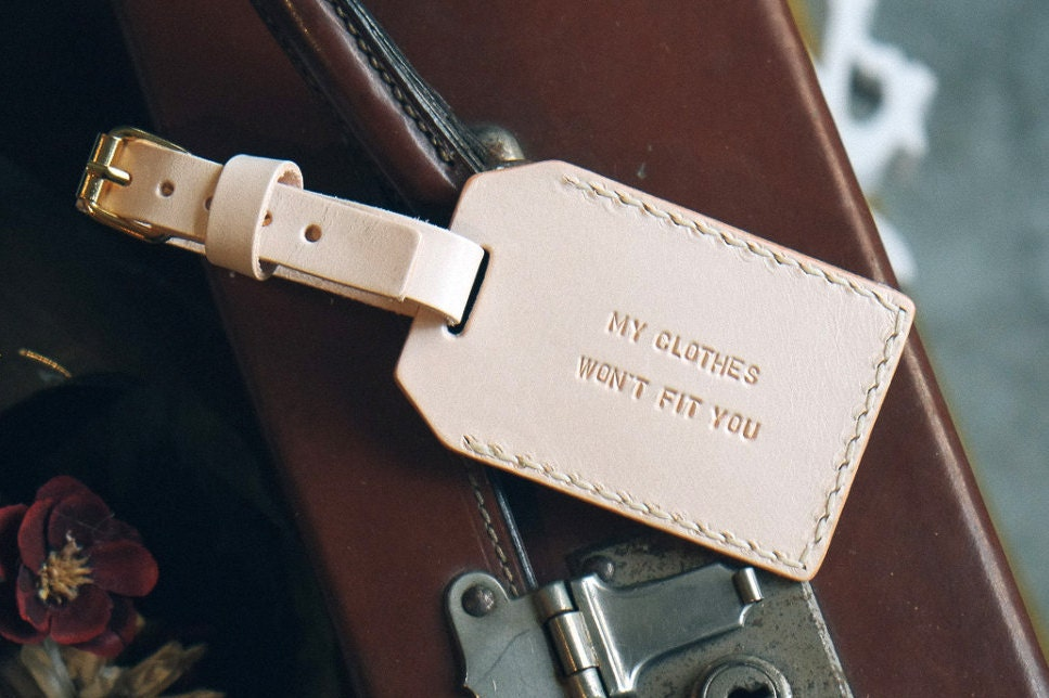 Personalized Luggage Tag Leather Luggage tag Personalized