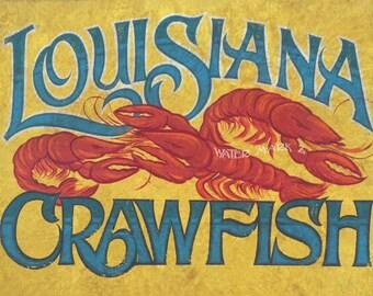 Louisiana Crawfish  Print