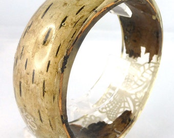 Bracelet, Bangle, Resin, Birch