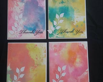 Lot of 4 Thank You cards blank inside