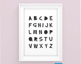 Nursery BIG Alphabets Printable Posters