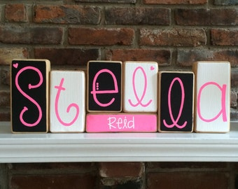Baby Name Blocks - Personalized Baby Gift
