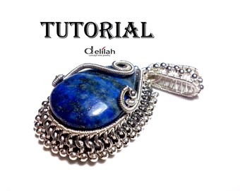 Royal Lapis Pendant Wire Wrapped Jewelry Tutorial Wire Wrap Jewelry Tutorials Wire Wrap Pendant Tutorials Lapis Pendant Tutorials