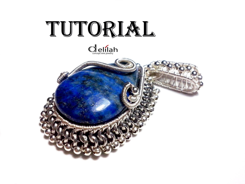 Royal Lapis Pendant Wire Wrapped Jewelry Tutorial Wire Wrap Jewelry ...