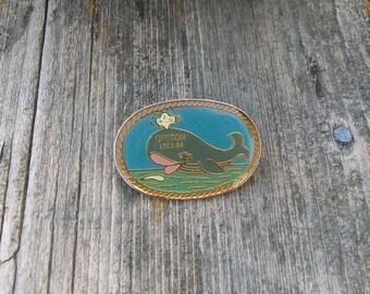 Vintage Whale VFW Pin Oregon 1983 1984