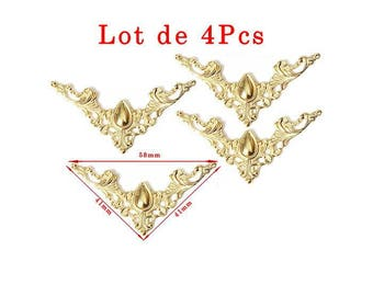 Model A Baroque gold corners. Size approximately 41x41mm, 56mm set of 4Pcs