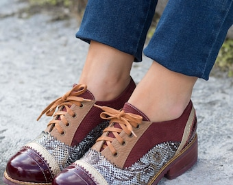 Oxford shoes Leather oxford Brogues shoes Zapatos oxford