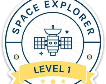 Space Learning Sticker