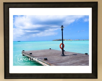 Pier Sea View Lustre Print