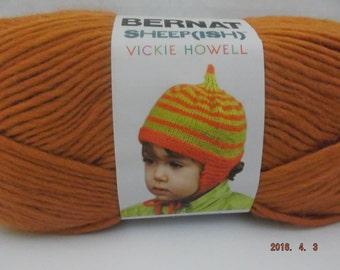 Bernat Sheepish Yarn ~ Pumpkin(ish) ~ Wool Blend ~ #4 Medium ~ 85 grams/3.0 ounces ~ 167 yards