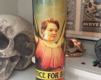 St Barb Stranger Things Justice for Barb Prayer Candle