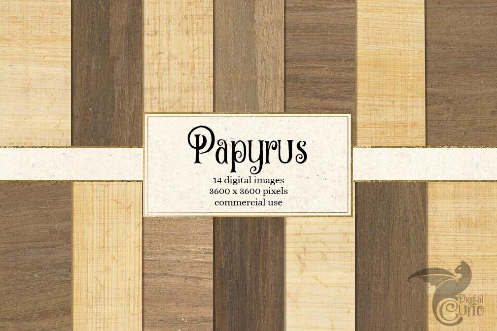 Papyrus Textures Digital Paper Egyptian papyrus printable