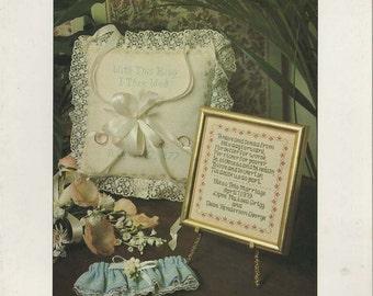 Wedding Keepsakes Cross Stitch Book by June Grigg --Leaflet 5