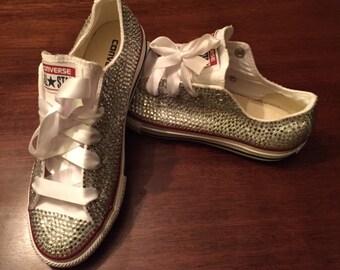 Girls sizes 10.5-3 RhineStone shoe