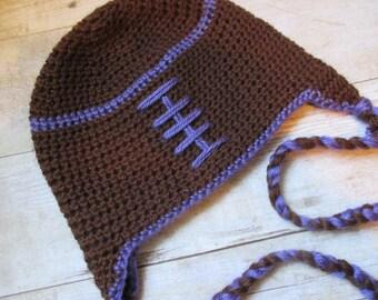 Football Hat, Newborn Football Hat, Baby Raven's Hat, Sports, Newborn Photo Prop, Raven's Football Hat, Football Photo Prop, Football Hat