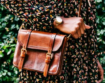 Michaela Handcrafted Leather Satchel