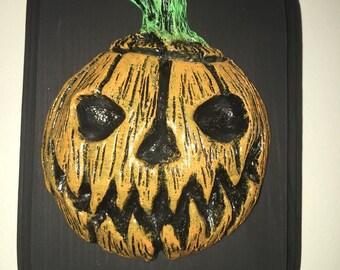 """7"""" Inch Pumpkin Plaque"""