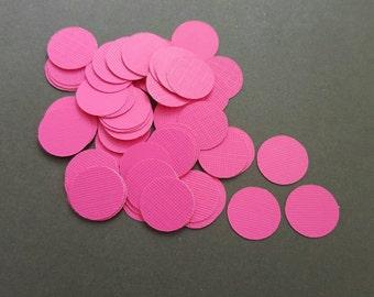 Paper Confetti - 200 pieces -Fucsia confetti - pink confetti-Round Confetti - party confetti - hot pink confetti