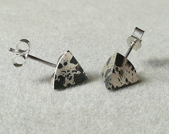 Futura inspired SPIKE Stud Earrings - made in solid silver - Textured with a designer finish. LIMITED EDITION!