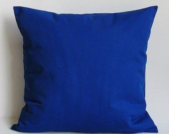Cobalt Royal Blue Pillow Cover Decorative Throw Accent Sofa Couch Bed 16x16 18x18 20x20 22x22 12x14 12x16 12x18 12x20 14x22 American Zipper