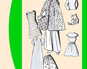 "Vintage Mail Order Barbie Doll Wardrobe 11-1/2"" Newspaper Pattern Doll Clothes Wardrobe #1339"