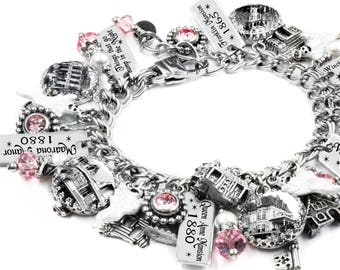 Haunted House, Halloween Jewelry, Ghost Bracelet, Haunted Jewelry, Horror Bracelet, personalized choice of crystals